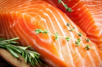 Fresh salmon. macro; Shutterstock ID 112859269; PO: aol; Job: production; Client: drone